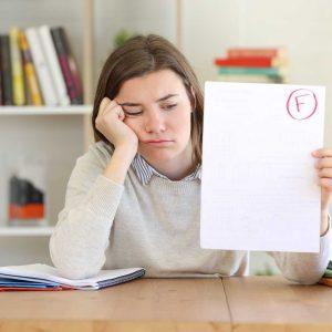 Negatívne hodnotenie školskej práce